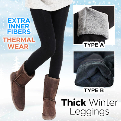 25719d01e42965 Thick Winter Legging * Premium Version * Extra Inner Fibers * Thermal Wear *