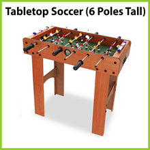 [JK] Tabletop Soccer - 6 Poles Extra Tall ★ World Cup Hype • Self Assembly • Test Your Reflexes ★