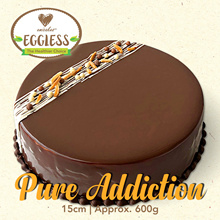 [Emicakes] Approx 600g – Eggless Pure Addiction 15cm available