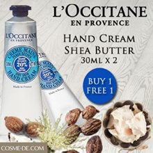 BUY 1 FREE 1‼️ LOccitane Shea Butter Hand Cream 30ml (Dry or Damaged Skin)
