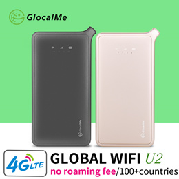 【Travel Must Item】GlocalMe Worldwide Pocket WiFi Router 4G LTE Egg Sim-Free Roaming-Free