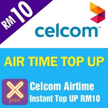 Celcom Airtime instant Top UP RM10[Each mobile number can only top up once per day after 24 Hours]