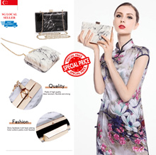 Elegant Evening Clutch Bag♥Handbag♥Elegant Purse♥Luxury Evening Party Bag  ♥FREE Cosmetic Mirror