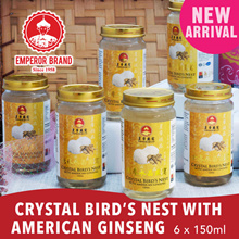 Crystal Birds Nest With American Ginseng 6 x 150ml SALE!