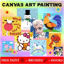 ❄⛄🎄🎨 Kids Canvas Painting Art ❤ Birthday Gifts Goodie Bag/ Kids Children School Party ❤