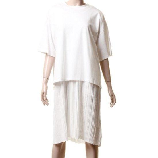 ・トムボイルーズフィットの裾やフリルのワンピース9105241334 面ワンピース/ 韓国ファッション