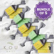 [Bundle 5pcs] KOU Natural Soap 80g x 5pcs_10 Variants_Made in Bali