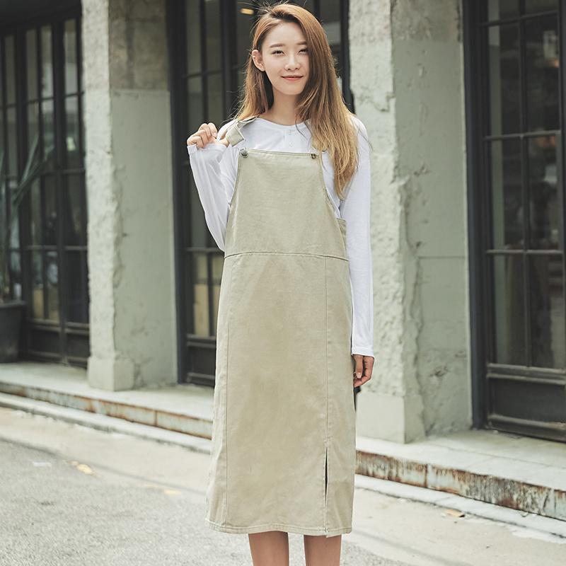 【送料無料】★韓國ファッション★long suspender skirt♥ロングサスペンダースカート