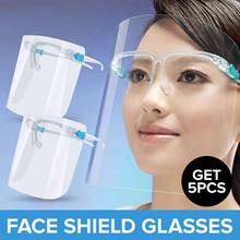 Get 5pcs_Alldays Face Shield Glasses / Full Protection / Anti-fog_Premium Quality