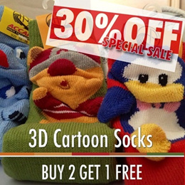 Imported socks !! South-Korea high quality 3D Cartoon Socks ** suitable for kids and young adults !!