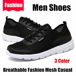 4eb91d30858566 Men Shoes Summer Sneakers Breathable Fashion Mesh Casual Shoes Couple Lover  Mens Mesh Shoes