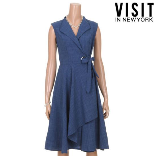 ・ビジット・インニューヨークスルリブリスアイレットラップワンピースVTGOP03 面ワンピース/ 韓国ファッション