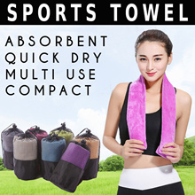 ☀Ultra Microfiber Sports Towel ☀Compact / Absorbent / Quick Dry / Soft /Antibacterial/Durable Towels