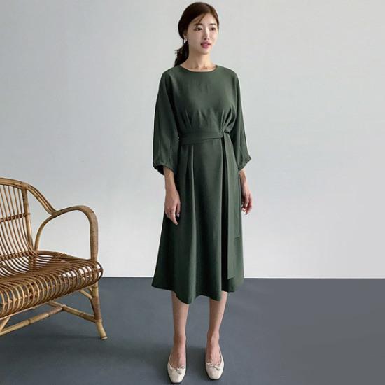 るみさん問題ピンタック・パフワンピース 綿ワンピース/ 韓国ファッション