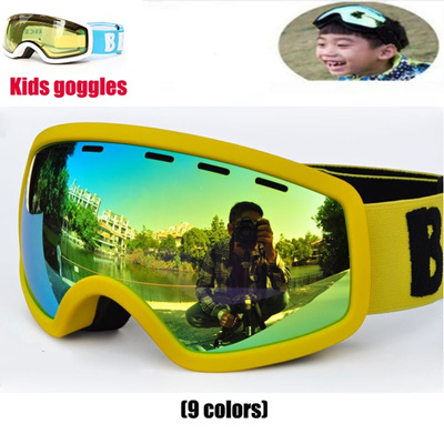 1bd3f30422 New Snowboard goggles Kids Double Lens UV400 Anti-fog Ski Snow Glasses  Child Skiing Mask