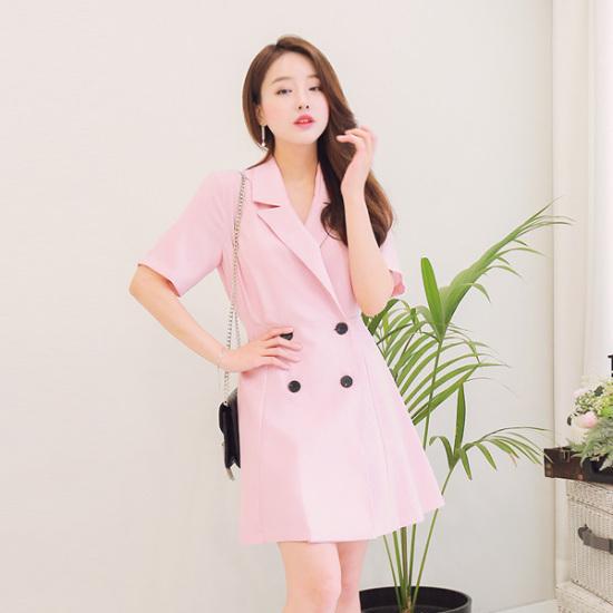 ジェイ・スタイルビックサイズロイティンカラワンピース 大きいサイズ/ワンピース/韓国ファッション