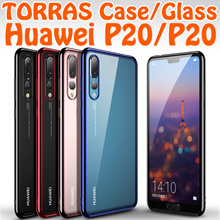 Brand TORRAS Plating TPU case cover Tempered Glass Forst Case for Huawei P20 P20 Pro Casing