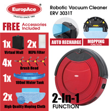*SPECIAL PRICE* EuropAce Robotic Vacuum Cleaner (Wet and Dry) ERV 3031T - 1 YEAR WARRANTY