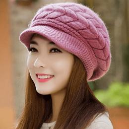 eb8543d0cef Knitted Hat Women Winter Hats for Women Ladies Beanie Girls Skullies CAPS  Bonnet Femme SnapBack Warm