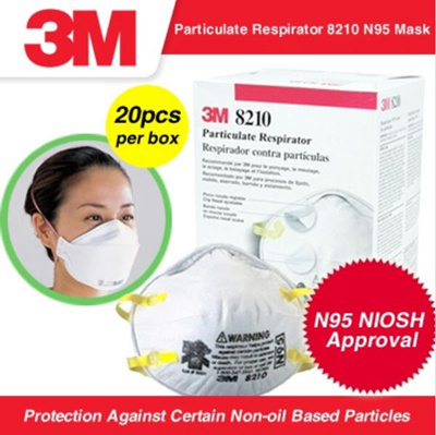3m 9210 n95 particulate respirator 3 panel flat fold h1n1 masks