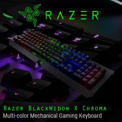 Razer Blackwidow X Chroma Multi Color Mechanical Gaming Keyboard Us Layout Frml Chroma Lighting