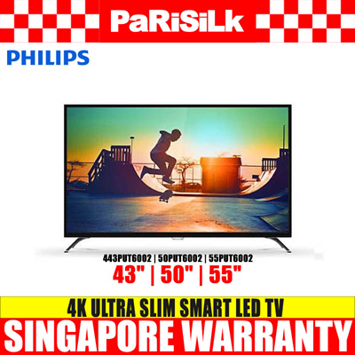 Philips 43PUT6002 | 50PUT6002 | 55PUT6002 4K Ultra Slim Smart LED TV (43 | 50 | 55-inch)