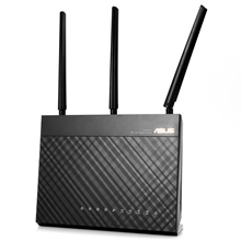 [*] ASUS RT-AC68U WIRELESS ROUTER 2.4GHZ / 5GHZ NETWORK WIFI REPEATER [BLACK]