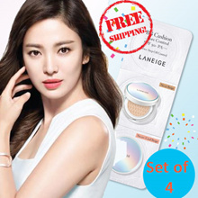 ONE DAY SALE!! 4 sets Laneige Cushion Blister. Anti-aging whitening pore control. 3 colours