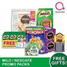 [NESTLÉ] Nescafe/ Milo Promo Packs - FREE GIFT + UP TO 50% OFF EXTRA