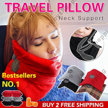 [Free Gift]★SG BEST DEAL★PREMIUM Travel Pillow /360° Fully Support Neck Travel N