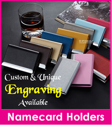 Namecard name card Case/Engraving Customize Name Card Holder/Personalised Business Card Casing