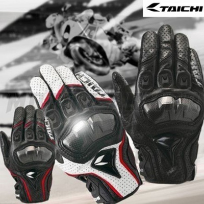 motorcycle leather glove rs taichi perate carbon fibre protection guantes moto cycling gear summer