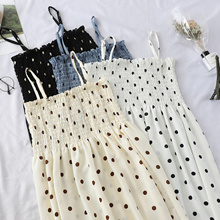 Polka-dot dress / sleeveless vest skirt tube top A word big dress dress children tide
