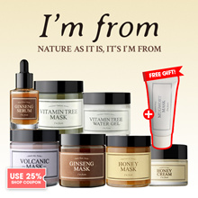 Free Gift [IM FROM] Real Honey Mask/ ginseng serum/ginseng mask/volcanic mask/vitamin tree water