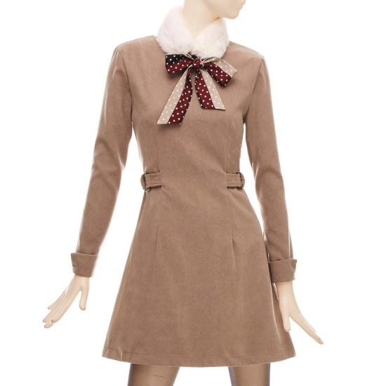 フォーカス飛鳥ポイントAラインワンピースBFGW1OP4541 面ワンピース/ 韓国ファッション