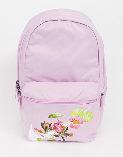 e101ef9b8b0e01 Qoo10 - 나이키 Nike Pink Heritage Floral Logo Backpack : Bag & Wallet