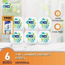 Ka 3in1 Laundry Capsule 52pcs x 6 Boxes