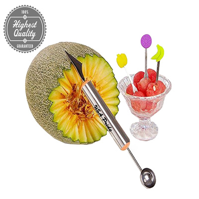 Melon Baller to make melon balls with Fruit Carving Knife Multifunction  Kitchen Tool