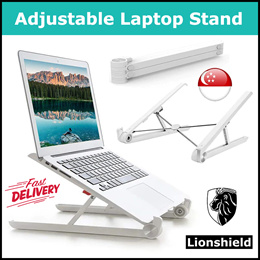 ZXC Home VIP Folding Portable Laptop Desk Ergonomic Aluminum Bed Laptop Stand PC Table Notebook Table Desk Stand with Mouse Pad