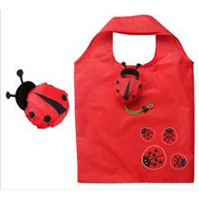Cute Ladybug Shape Shopping Bag Eco Friendly Foldable Reusable Tote Bag
