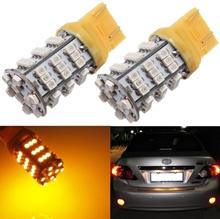 T20 7443/7440 3528 SMD 54 LED Amber Yellow Turn Signal Blinker Light bulb