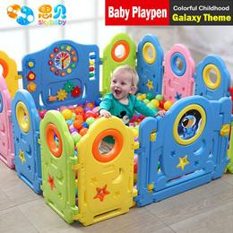 Safety playpen play pen yard fence playyard gate baby child