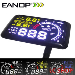 EANOP HUD Head UP 5.5 LCD Display OBD ii Car Styling Car Kit fuel Overspeed KM/H for Universal Car