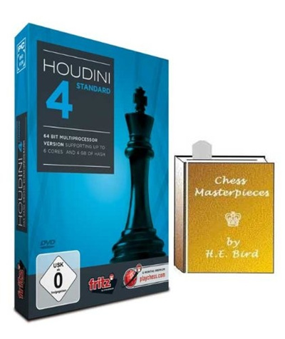 [$151 20](▼4%)Houdini 4 Standard Chess Software Program & ChessCentral s  Chess Masterpieces E-book (2 item Bundle)