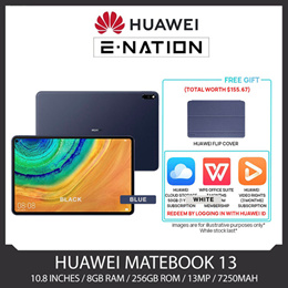 Free Gift Worth $155 - Huawei MatePad Pro (WiFi) 10.8 inches / 8GB RAM / 256GB ROM / 13MP / 7250mAh / HUAWEI Kirin 990 5G 8 Core Processor - Local Stocks