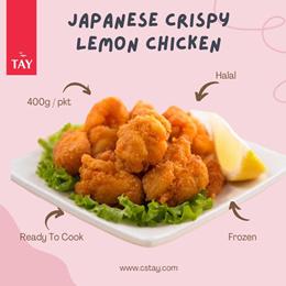 [CS Tay]( Bundle 1+1 ) Japanese Crispy Lemon Chicken (400g/pkt )(Halal) (Frozen)
