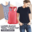 BEST SELLER Ladies Tanktop 6 Colors and Basic T-shirt 8 Colors - Export Quality
