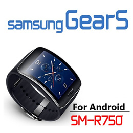 Samsung Galaxy Gear S SM-R750 Curved AMOLED Smart Watch Black Wearable Personal fitness Genuine NEW
