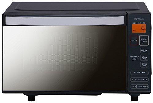 アイリスオーヤマ 電子レンジ ミラーガラス 50Hz専用 東日本 フラットテーブル ブラック IMB-FM18-5