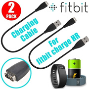 2 PCS USB Replacement Charging Charger Cable Cord for Fitbit Charge HR Wristband